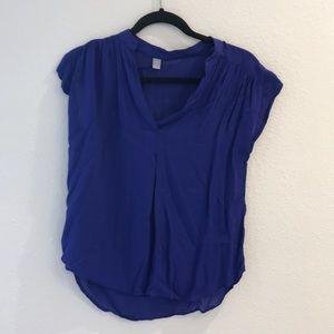Tops - Blue linen blouse